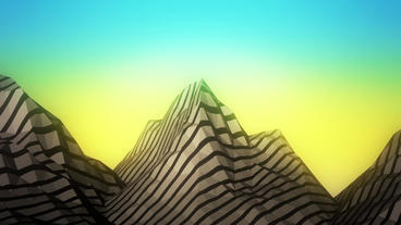 Mountain with zebra pattern,Dream hills in Science... Stock Video Footage