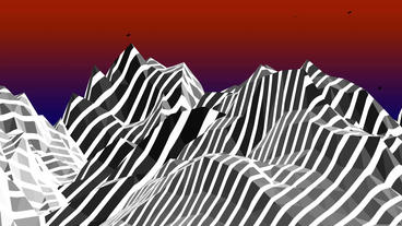 Mountain with zebra pattern,Dream hills in Science Fiction world Animation