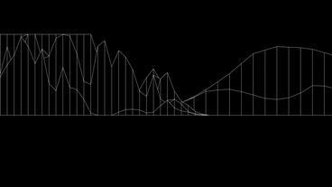 Abstract fluctuations grid line art,vibrating musical sound,rhythm rhythmic wave Animation