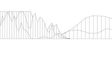 Abstract fluctuations grid line art,vibrating musical sound,rhythm rhythmic wave Animation