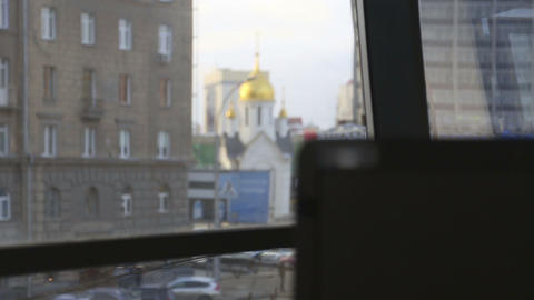 View from the office Stock Video Footage