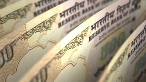 Indian Rupee Close-up Stock Video Footage