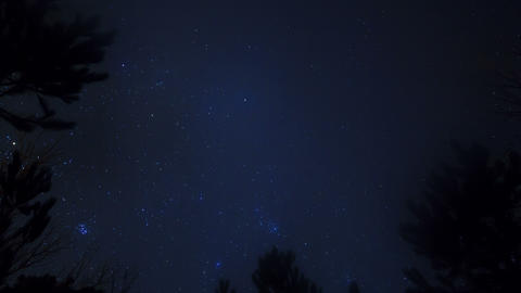Stars in the sky. Time Lapse. 4K Stock Video Footage