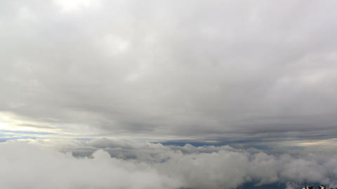 Between clouds. Time Lapse Footage