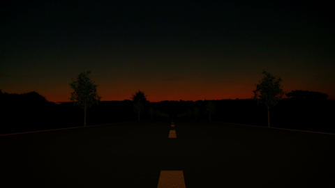 Road Sunrise 01 Stock Video Footage