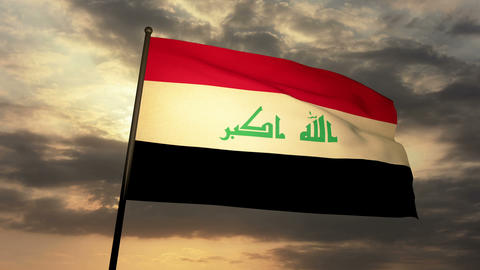 Flag Irak 03 Animation
