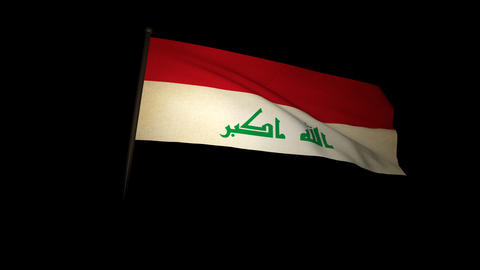 Flag Irak 01 Stock Video Footage