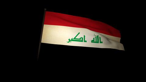 Flag Irak 01 Stock Video Footage