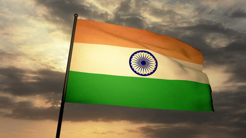 Flag India 03 Animation