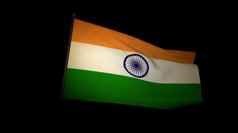 Flag India 01 Stock Video Footage