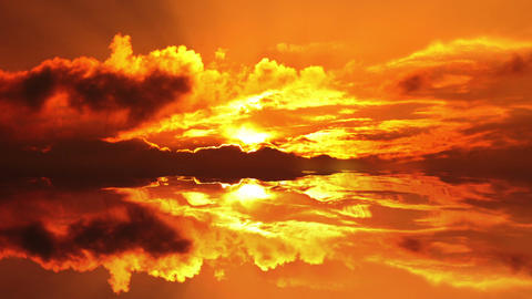 Sunset Sea Stock Video Footage