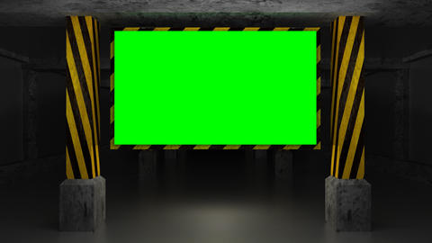 Full HD 3d Animation Screen In The Garage (green S stock footage