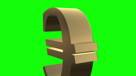 Euro symbol rotates close up Stock Video Footage