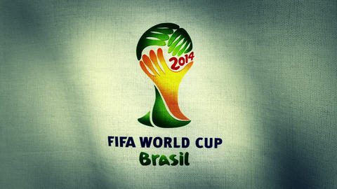 Brazil Fifa World Cup 2014 Flag Logo Animation