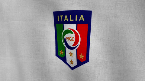 World Cup Italy Logo Flag (Clean Not treated) Animation