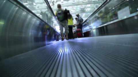 People Movement In Walking Track stock footage