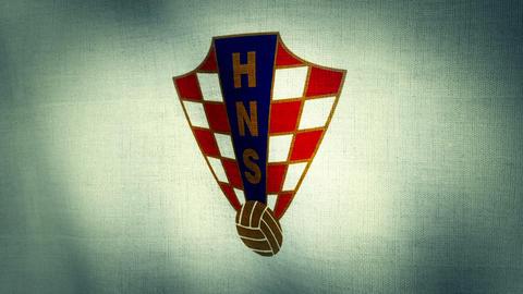 Croatia National Football Team Flag (Loopable) stock footage