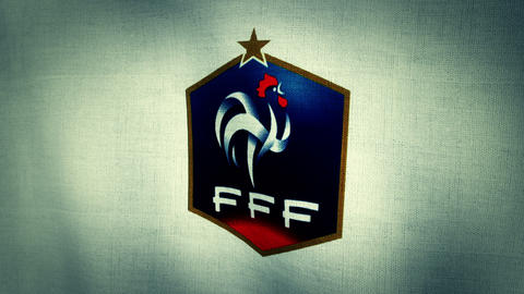 France National Football Team Flag (Loopable) stock footage