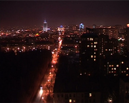 Night In The City Timelapse stock footage