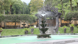 Asian Fountain stock footage
