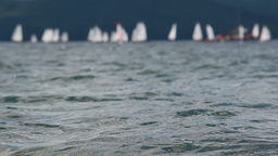 Sailboats in Sea Footage