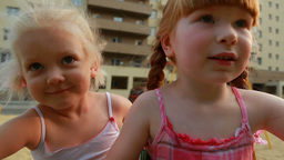 Girls on Carousel Footage
