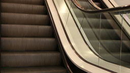 View of Moving Escalators Footage
