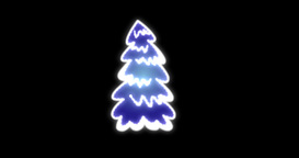 Christmas Tree in Motion Footage