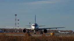On The Takeoff Runway stock footage