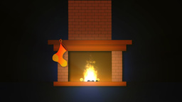 Christmas Fireplace Footage