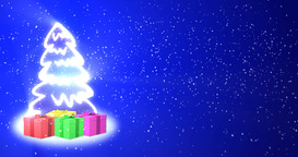 Christmas Tree with Gifts Footage