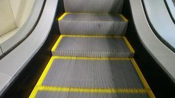 Escalator Close-Up Footage