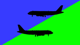 Airplanes in Opposite Directions Footage