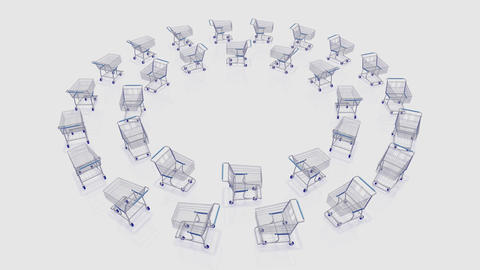 Shoppingcart Circle Be HD Stock Video Footage