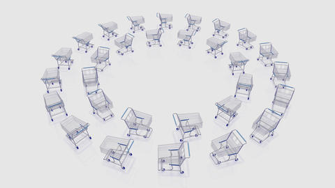 Shoppingcart Circle Be HD Animation
