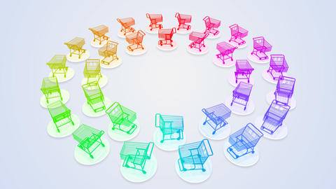 Shoppingcart Circle De HD Stock Video Footage