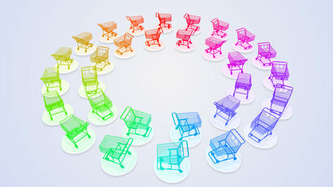 Shoppingcart Circle De HD Animation