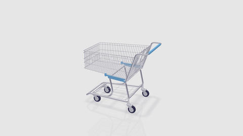 Shoppingcart Rotate Be HD Stock Video Footage