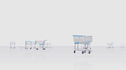Shoppingcart Run Be HD Stock Video Footage
