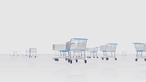 Shoppingcart Run Be HD Stock Video Footage