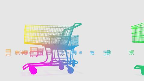 Shoppingcart Run De HD Stock Video Footage