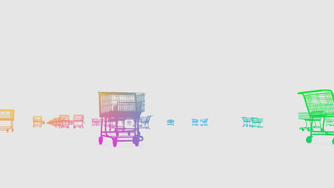 Shoppingcart Run De HD Stock Video Footage