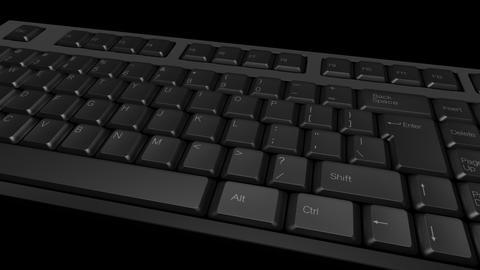 Computer Keyboard DMono Ke A Stock Video Footage