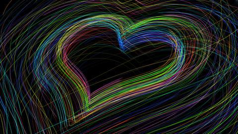 Line Heart LH Fix S B HD Stock Video Footage