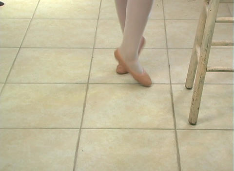 Young Female Ballet Feet (1) Footage