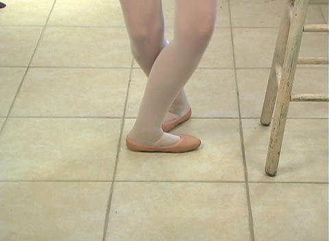 Young Female Ballet Feet (1) Stock Video Footage