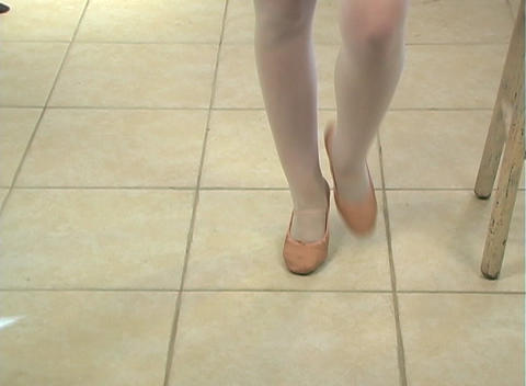 Young Female Ballet Feet (3) Stock Video Footage