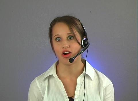 Beautiful Teenage Customer Service Operator Live Action