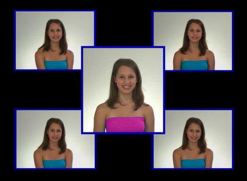 Beautiful Teen Girl Looks at Herself Stock Video Footage