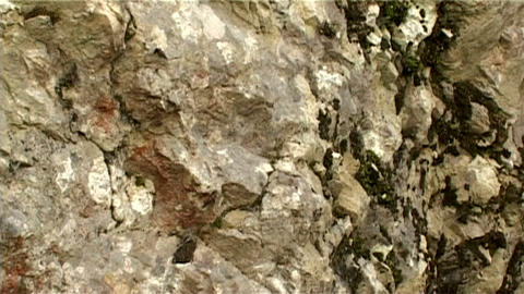ntsc stone horizontal pan Stock Video Footage